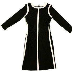 NWT Ralph Lauren sz 6 Sheath Ruched Dress Black